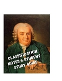Biology Classification Lecture notes and Student Study Guide