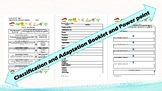 Biology: Classification and Adaptations Powerpoint & Student Booket
