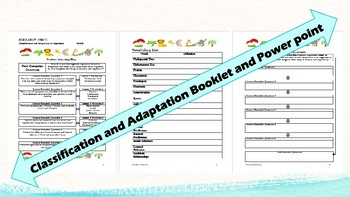 Biology: Classification and Adaptations Powerpoint & Stude