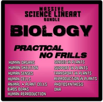 Biology Clipart (Lineart Bundle)