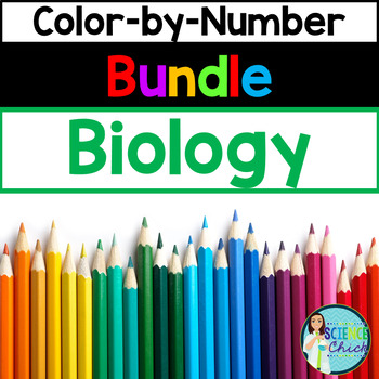 Biology Color-by-Number Growing Bundle