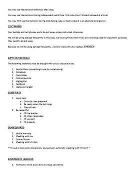 Biology Course Syllabus