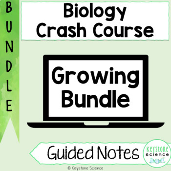 BUNDLE Biology Crash Course Evolution, Genetics, Cells