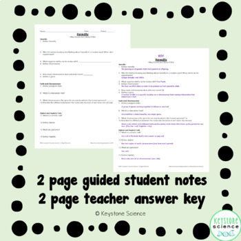 Biology Crash Course Heredity Guided Notes, Key, and HW Check