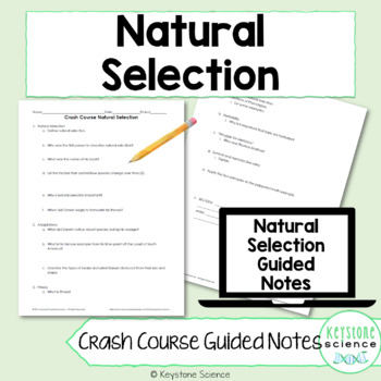 Biology Crash Course Natural Selection Guided Notes, KEY, and Homework Check