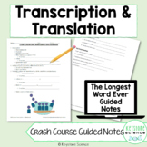 Biology Crash Course Protein Synthesis Transcription Trans