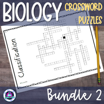 Biology Crossword BUNDLE Set 2