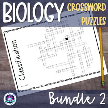 Biology Crossword BUNDLE Set 2