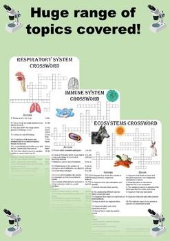 Biology Crossword Puzzle Bundle. Includes 10 different crosswords!