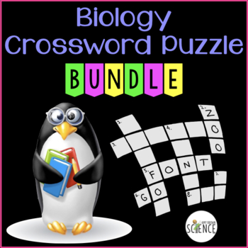 Biology Crossword Puzzle Bundle