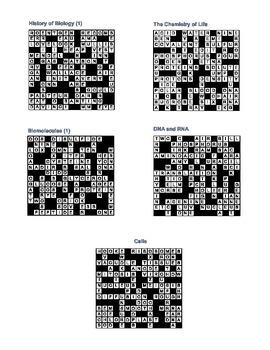 Biology Crosswords II