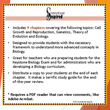 Biology Curriculum - Keystone Biology Course Map (Module B / Half Year)