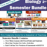 Biology Curriculum - Semester Bundle includes: 5 Units 30 Topics