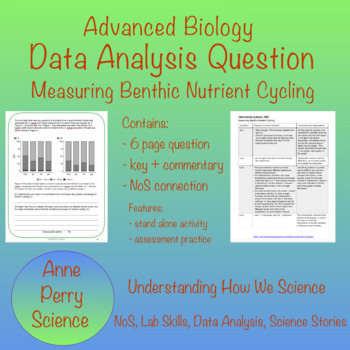 Biology Data Analysis Question: Measuring Benthic Nutrient Cycling