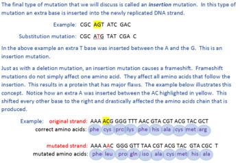 Genetic Mutations Worksheet Answers Pogil, Gene Mutations ...