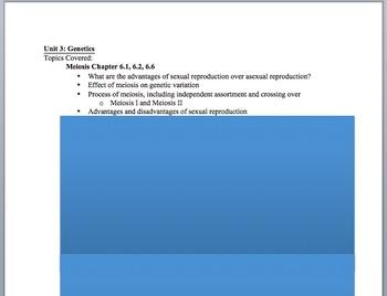 Biology EOC Review Outline