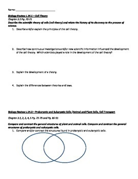 Biology EOC Review Packet by Kelly Holder | Teachers Pay ...