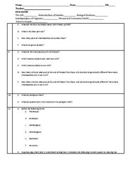 Biology EOC Review Questions