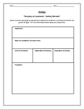 Biology! Ecology: Worksheets and Laboratories! by Beverly ...