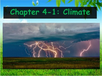 Biology - (4.1 and 4.2 Climate and Niches Powerpoint and G