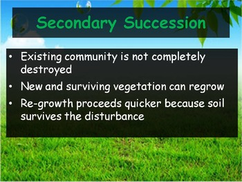 Biology - (4.3 Succession Powerpoint and Guided Notes)