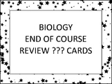 Biology End of Course Review Questions Task Cards