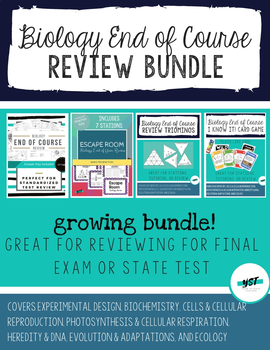 Biology End of Course and State Test Review Bundle by Your