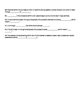 Biology Cellular Energy ATP Notes and Student Study Guide