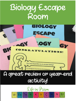 Biology Escape Room/ Scavenger Hunt- End of Year Activity or Review