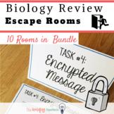 Biology Review Activities. Editable. Escape Rooms Bundle