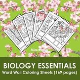 Biology Essentials Word Wall Coloring Sheet Bundles (13 bu