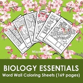 Biology Essentials Word Wall Coloring Sheet Bundles (13 bu
