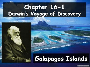 Biology - Evolution (16.1 Darwin's Theory Powerpoint and G