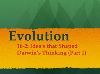 Biology - Evolution (16.2 Powerpoint and Guided Notes)