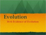 Biology - Evolution (16.4 Evidence of Evolution PPT and Guided Notes)