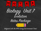 Biology Evolution Notes Package Aligned with NYS Living En
