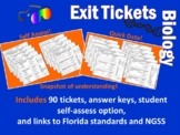 Biology Exit Ticket Bundle