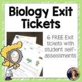 Biology Exit Ticket Freebie