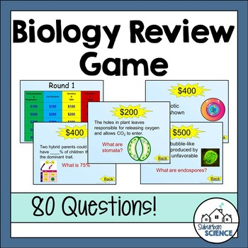 Biology EOC or Final Exam Review Game