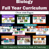 Biology Full Year Curriculum - TEN Units with over 1500 pages