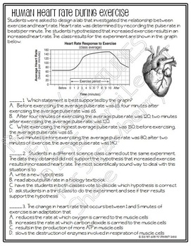 Biology GRAPHING Practice: HEART RATE STUDIES in Two Species w NGSS data