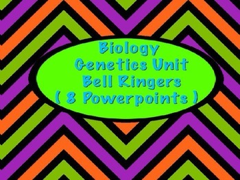 Biology Genetic Bell Ringer Powerpoints