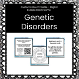 Biology Genetic Disorders Customizable Escape Room / Breakout Game