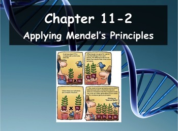 Biology - Genetics 11.2 Applying Mendel's Principles PPT and Guided Notes