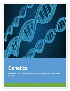 Biology! Genetics: Worksheets! by Beverly's Science Classroom | TpT