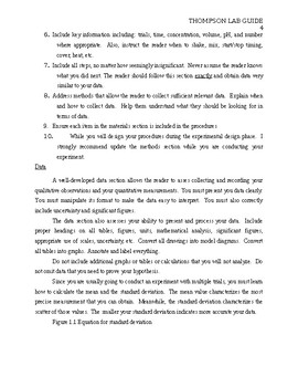 Formal Lab Report Template By Advanced Biology Tpt
