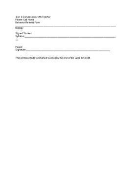 Biology High School Syllabus:  Editable