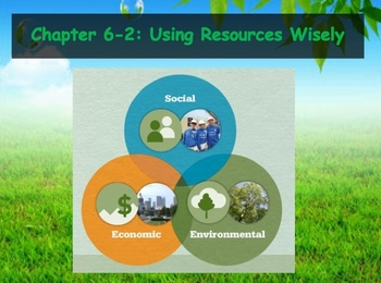 Biology - Human Impacts (6.2 Using Resources Wisely Powerpoint and Guided Notes)