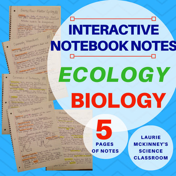 Biology Interactive Notebook - Ecology