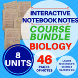 Biology Interactive Notebook - Entire Course Note Bundle